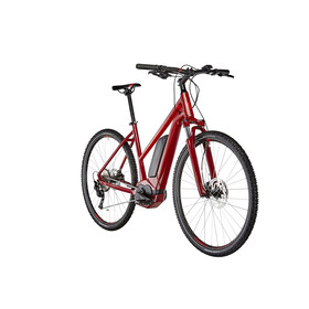 Cube Cross Hybrid Pro 400 E-Cross Bike Trapez red